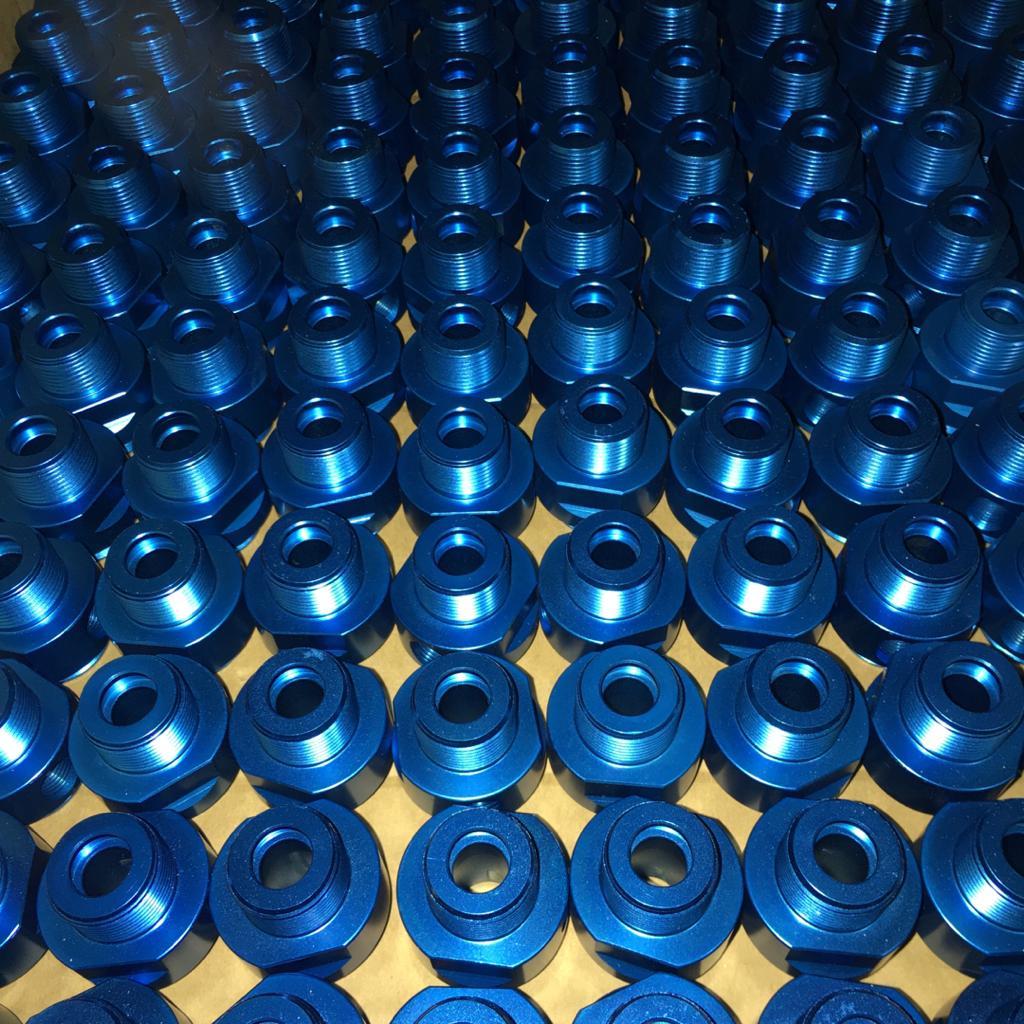 آندایز آبی نرمال قطعات آلومینیومی